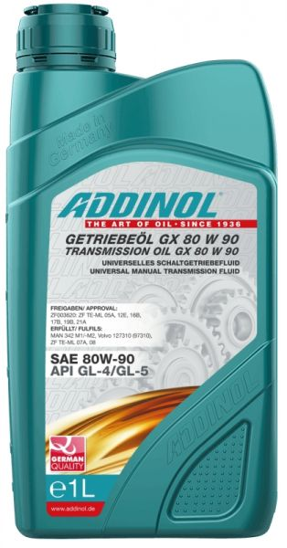 ADDINOL GETRIEBEÖL GX 80W-90 1 Liter