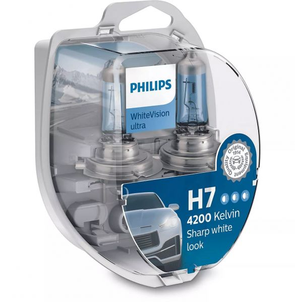 PHILIPS H7 WhiteVision ultra Duo Box + 2x W5W