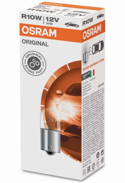 OSRAM ORIGINAL R10W 12V 10W BA15s 10er Faltschachtel